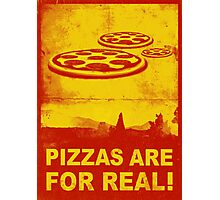 Pizzas are for real! ...Fast flying pizzas Photographic Print