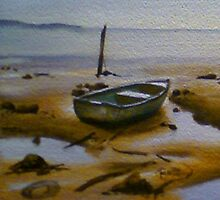 The Lone Dinghy by ajnorthover