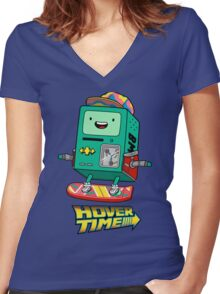 Hover Time Women's Fitted V-Neck T-Shirt