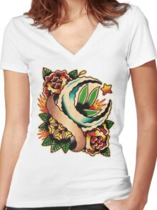 Spitshading 007 Women's Fitted V-Neck T-Shirt