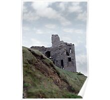 old castle ruin ballybunion Poster