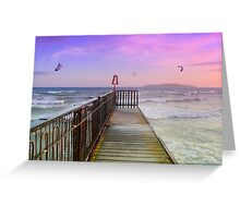 A perfect day for kite surfing Greeting Card