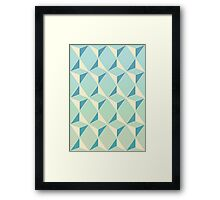 Triangles and Squares X Framed Print