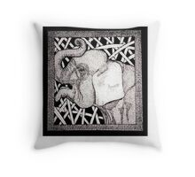 Meanwhile Back In Africa: An Elephant Throw Pillow