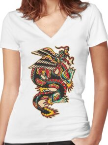 Spitshading 016 Women's Fitted V-Neck T-Shirt