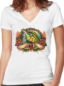 Spitshading 018 Women's Fitted V-Neck T-Shirt