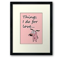 COURAGE THE COWARDLY DOG Framed Print