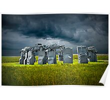 Car Henge in Alliance Nebraska after England's Stonehenge Poster