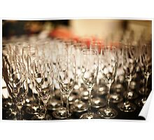 Champagne Glasses Poster