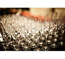 Champagne Glasses Photographic Print