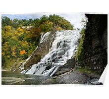 Ithaca Falls NY Landscape Poster