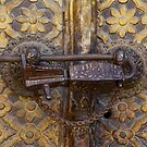 Antique lock, Royal Palace, Patan, Nepal by John Spies