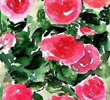 Watercolor Roses  by KaylaPhan