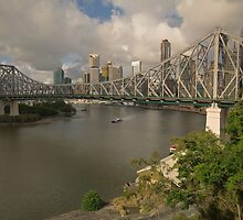 Story Bridge early morning Brisbane Australia by PhotoJoJo