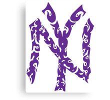 Yankees Tribal Purple Canvas Print