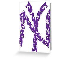 Yankees Tribal Purple Greeting Card