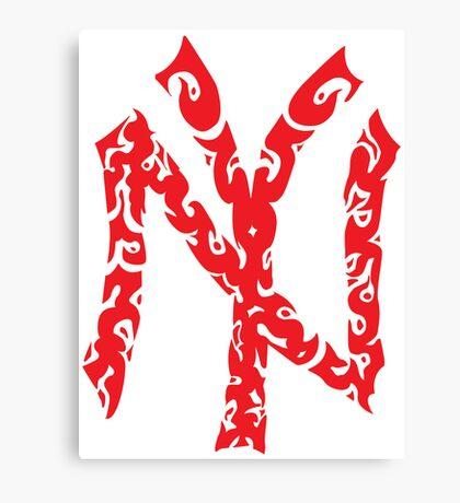 Yankees Tribal Red Canvas Print