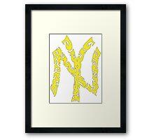 Yankees Tribal Yellow w/Black Framed Print