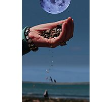 our earth and moon and water Photographic Print