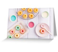 Mini bundt cakes Greeting Card