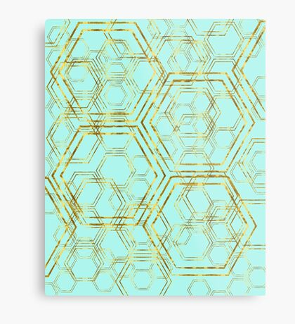 Hexagold Metal Print