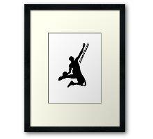 Derrick rose- Limitless Black Framed Print