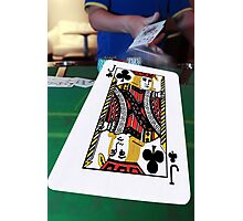 poker player throwing in the cards Photographic Print
