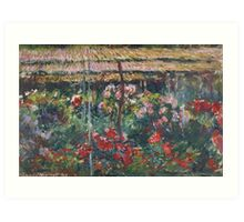 Peony Garden by Claude Monet Art Print