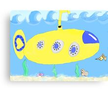 Under the sea in a yellow submarine Canvas Print