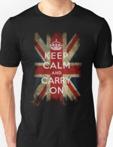 Vintage Keep Calm and Carry On and Union Jack Flag Unisex T-Shirt