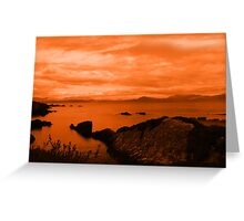 red coastal kerry view Greeting Card