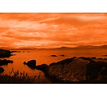 red coastal kerry view Photographic Print