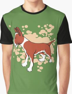 EBT Brown White and Fawn Paint Splash Graphic T-Shirt