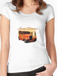 Street Dreams Woody at the Beach Women's Fitted Scoop T-Shirt