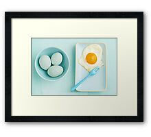 Eggs and fried egg Framed Print