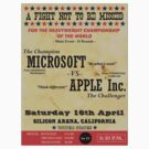 Microsoft VS Apple old boxing poster by MrYum