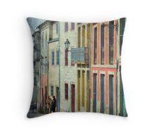 Streets of Lugo Throw Pillow