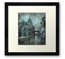 Cold morning of Lugo Framed Print