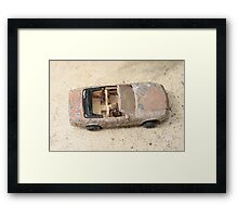 rusty classic car Framed Print