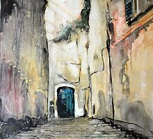Cobble stones alley by Lorenzo Castello