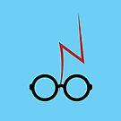 Harry Potter - Glasses and scar - Blue by EF Fandom Design