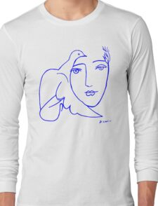 Dove Face by Picasso Long Sleeve T-Shirt