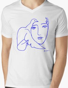 Dove Face by Picasso Mens V-Neck T-Shirt