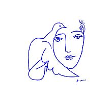 Dove Face by Picasso Photographic Print