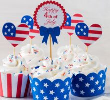 Independence day cupcakes Sticker