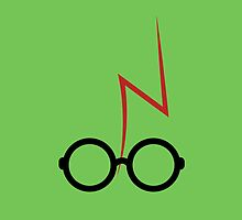 Harry Potter - Glasses and scar - Green by EF Fandom Design