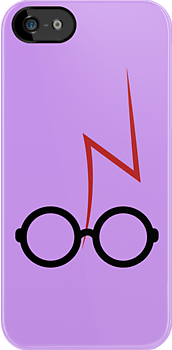 Harry Potter - Glasses and scar - Purple by EF Fandom Design