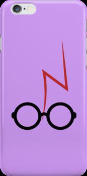 Harry Potter - Glasses and scar - Purple by EF Fandom Design