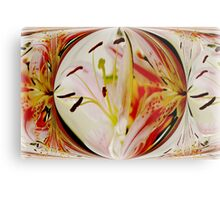 Contemporary Lilies Metal Print