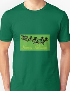 Poodle Sleigh Unisex T-Shirt